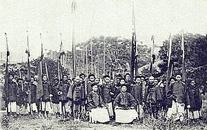 Hobe Fort - A group of Qing soldiers during the Sino-French War