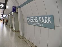 Queens Park Station curved tile.JPG