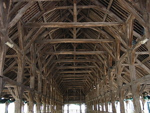 Questembert - Inside covered market