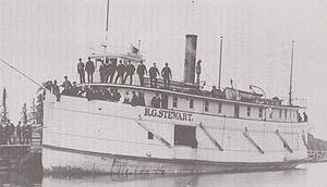 R.G. Stewart (shipwreck) - The R.G. Stewart with several passengers
