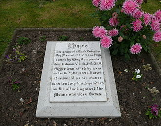 RAF Scampton - The grave of Guy Gibson's dog