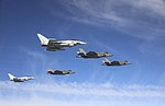 RAF and US Marine F-35B escorted by RAF Typhoon MOD 45162897.jpg