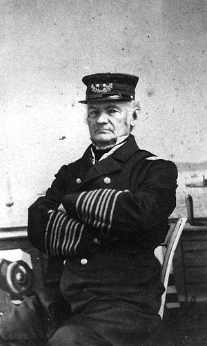 Hiram Paulding - RAdm Paulding, Commandant of the New York Navy Yard. (c. 1864-1865)