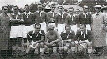 Una formazione dello Strasburgo finalista della Coppa di Francia 1936-1937