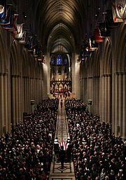 The state funeral of Ronald Reagan.