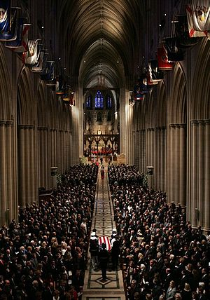Washington National Cathedral - The 2004 state funeral of the 40th President, Ronald Reagan