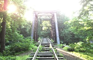 Rahway Valley Railroad - RVRR bridge over the Rahway River