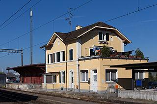 Rafz railway station Swiss Federal Railway station in Rafz, Zurich Canton, Switzerland
