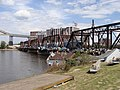 Railroad bridge wide 2, Cedar Rapids, June 22 2008.jpg