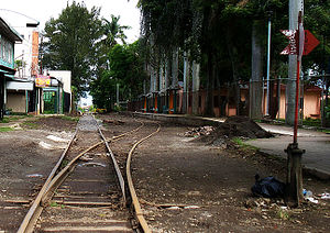 Rail transport in Central America - Train Station (INCOFER) in Costa Rica, near the University of Costa Rica