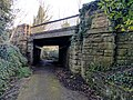 Railway Bridge 100 Metres West Of Hermitage Mill, Near Kings Mill Reservoir, Mansfield (1).jpg