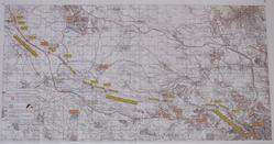 מפת הקטעים בין כפר דניאל לירושלים