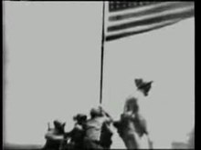 Archivo:Raising the Flag on Iwo Jima.ogv