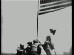 Ficheiro:Raising the Flag on Iwo Jima.ogv