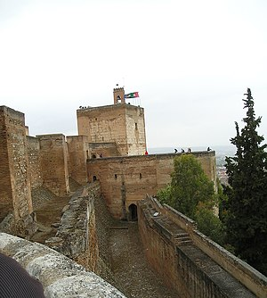 Banquette - Banquette (along the wall on the right) on the Alhambra fortress in Spain.