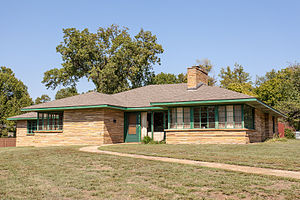 Ranch Acres Historic District, Tulsa - Typical house in Ranch Acres Historic District. Courtesy W. R. Oswald, September 21, 2012
