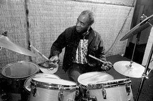 Rashied Ali - Rashied Ali in a duo with Billy Bang at the Koncept Cultural Gallery, Oakland, California, July 26, 1991