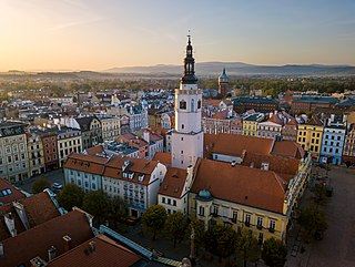 Świdnica Place in Lower Silesian Voivodeship, Poland