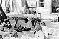 Ravi Matthai (on the chair) and Raaj Sah (with beard and long hair) with villagers in Jawaja, 1975.jpg