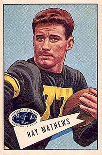 Ray Mathews American football player