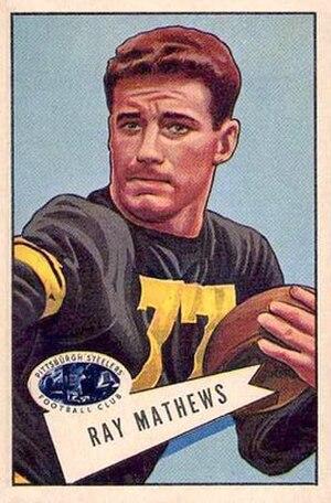 Ray Mathews - Mathews on a 1952 Bowman football card
