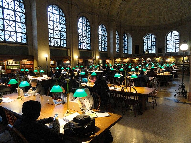 File:Reading room - Boston Public Library, McKim Building - DSC09268.JPG