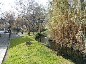 Vallbona, Barcelona - The Rec Comtal passing through Vallbona