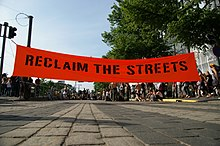 Reclaim the Streets banner