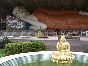 Kelantan - Reclining Buddha in Wat Photivihan.