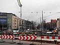 Reconstruction of tram track on Szarych Szeregów Square in Szczecin, 2020 (2).jpg