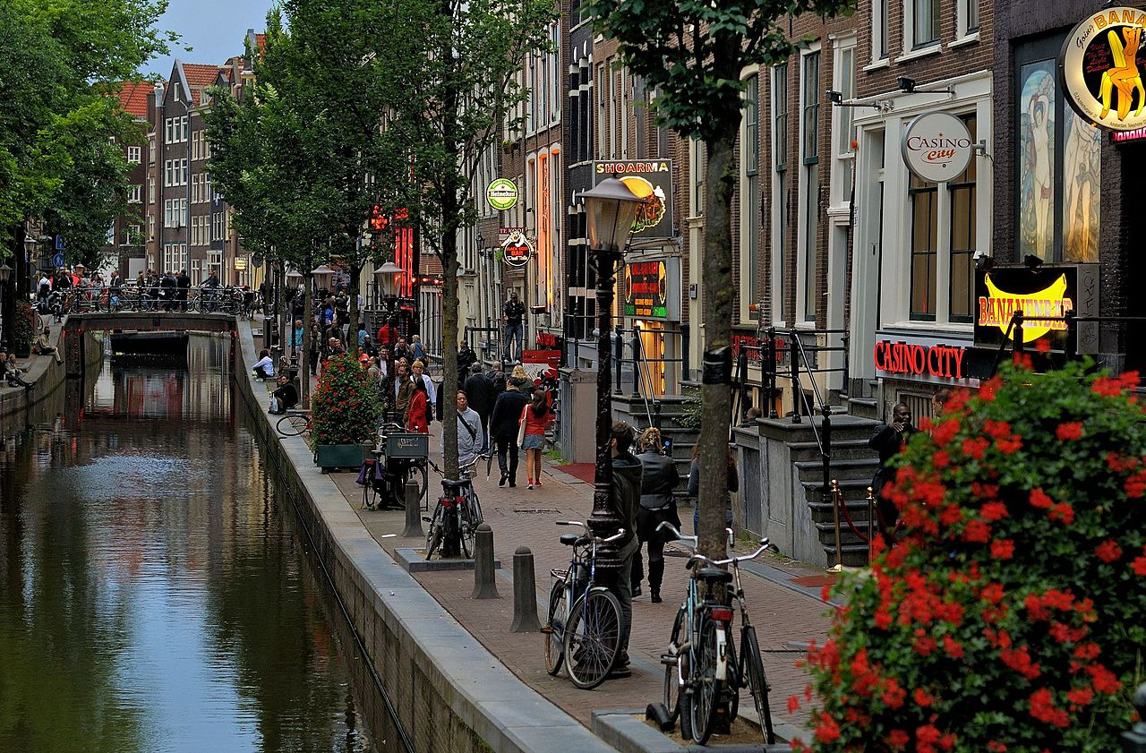 Red-light district of Amsterdam by day. 2012.JPG