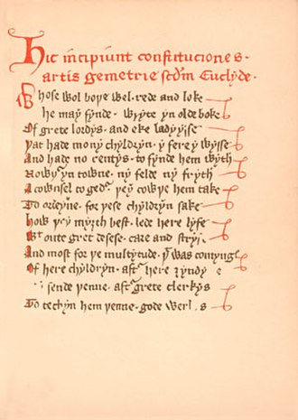 Masonic manuscripts - Halliwell Manuscript