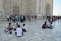 Relaxing Visitors - Taj Mahal - Agra 2014-05-14 3911.JPG
