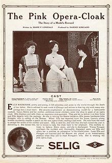 <i>The Pink Opera Cloak</i> 1913 silent film directed by Hardee Kirkland