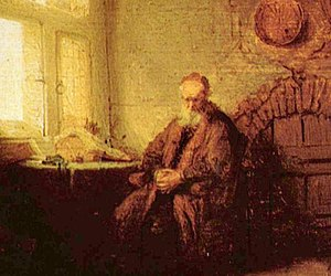 Meaning of life - Philosopher in Meditation (detail) by Rembrandt
