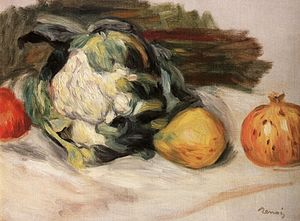 Museum of John Paul II Collection - Image: Renoir Cauliflower and pomegranates