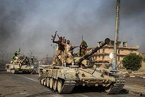 Battle of Fallujah (2016) - Iraqi T-72 in Fallujah