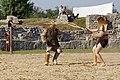 Retiarius Scissor show fight Carnuntum 2015 01.jpg