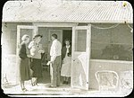 Reverend Fred McKay welcoming guests at the opening of the new Australian Inland Mission Hospital, Birdsville, Queensland, 1953.jpg