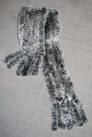 Rabbit hair - Fur stole made of Rex rabbit