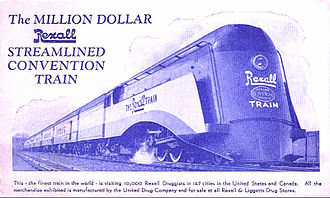Rexall - Postcard photo of the Rexall Train.