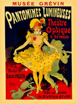 Reclameaffiche voor Pantomimes Lumineuses