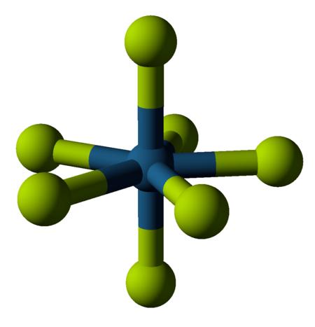 البنية الجزيئية لسباعي فلوريد الرينيوم