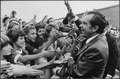 Richard M. Nixon being greeted by school children during a campaign stop. - NARA - 194445.tif