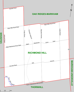Richmond Hill (electoral district) - Map of Richmond Hill riding