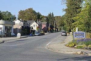 Ridgeville, Ontario - Looking north on Canboro Road in Ridgeville