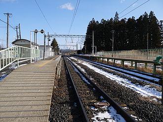 Rikuzen-Shirasawa Station - Image: Rikuzenshirasawasta platform