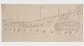 """Ritning-""""Galleri och akterspegel"""" av van de Velde d.ä. 1667. 1667 - Sjöhistoriska museet - O 04109.tif"""