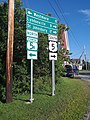 Road signs VT Rte 5 and 5A downtown West Burke VT August 2019.jpg