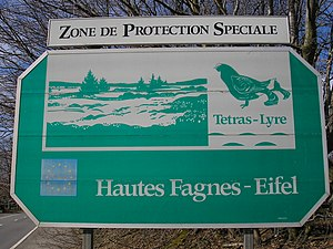 High Fens – Eifel Nature Park - French sign in Belgium